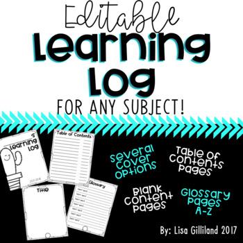 Editable Learning Log