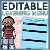 Editable Learning Contract for Any Topic