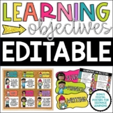 Editable Learning Objectives Posters & Headers