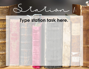Editable Learning Stations Template: Literary Theme