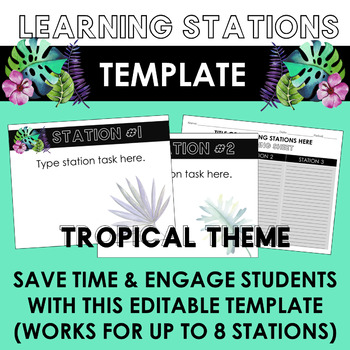 Editable Learning Stations Templates BUNDLE: Create your own learning stations!