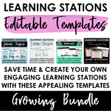 Editable Learning Stations Templates BUNDLE: Create your o