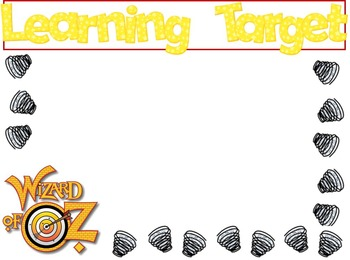 Editable Learning Target Posters - Wizard of Oz Theme