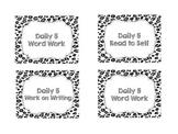 Leopard Print Drawer Labels