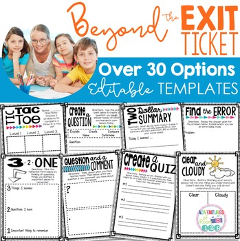 Editable Lesson Closure Templates