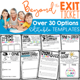 Editable Lesson Closure Templates