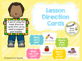 Editable Lesson Direction Cards