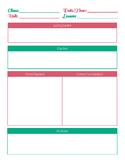 Editable Lesson Plan