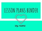 Editable Lesson Plan Binder Cover
