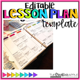 Editable Lesson Plan Template 2016-2017