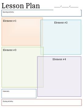 Editable! Lesson Plan Template