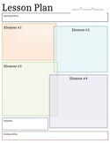 Editable! Lesson Plan Template