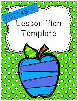 Editable - Lesson Plan Template