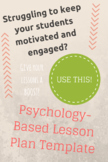 Psychology-Based Lesson Plan Template