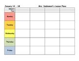 Editable Lesson Plan Template (8.5 x 11 landscape)