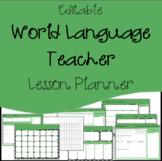 Editable Lesson Plan Template, Calendar / Agenda : World L