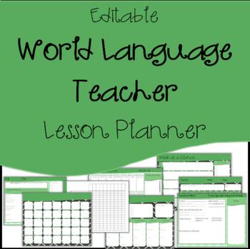 Editable Lesson Plan Template, Calendar / Agenda : Foreign