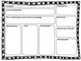 Editable Lesson Plan Template {Common Core Compatible}