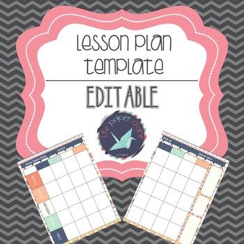 Lesson Plan Template: Editable {FREE}