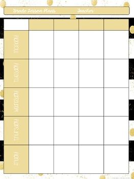Editable Lesson Plan Template: FREEBIE