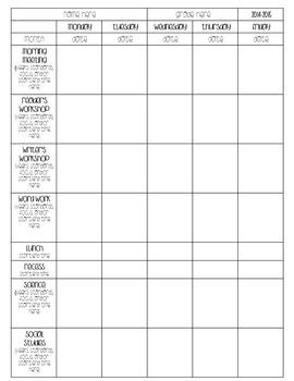 Editable Lesson Plan Template FREE
