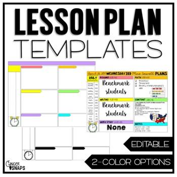 Editable Lesson Plan Template Freebie