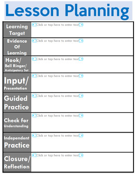 Editable Lesson Plan Template Pack!