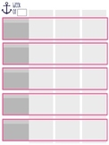 Editable Lesson Plan Template Pink/Gray