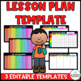 Editable Lesson Plan Template: Yearly, Weekly, Standards a