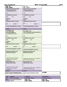 Editable Lesson Plan Templates for Elementary All Subjects, Team Teaching