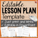 Editable Lesson Plan Template in PowerPoint for Individual Lesson Plans