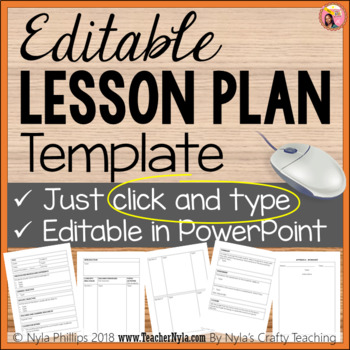 editable lesson plan template in powerpoint just type tpt
