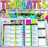 Editable Lesson Plan Templates | Printable and Digital
