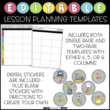 Editable Lesson Plan Templates | Compatible with Google Slides & PowerPoint