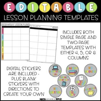 Editable Lesson Plan Templates | Google Slides, PowerPoint, GoodNotes