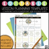 Editable Lesson Plan Templates | Compatible with Google Sl