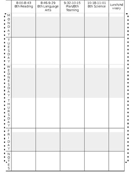 Editable Lesson Planbook