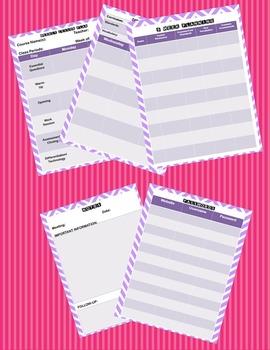 Editable Lesson Planner