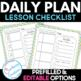 Editable Lesson Planner Daily Checklist : Polkadots