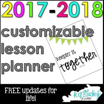 Editable Lesson Planner - FREE UPDATES FOREVER