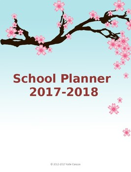 Editable Lesson Planner K-8, Sakura Theme 2014-2015