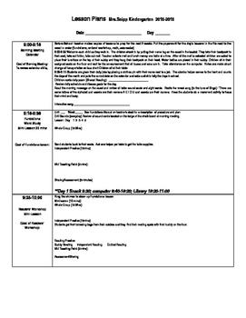 Editable Lesson Planner for Teachers