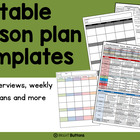 Editable Lesson Planning Documents - term overview, weekly lesson plans and more