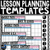 Lesson Plan Template | Editable and Landscape