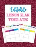 Editable Lesson Plans