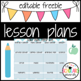 Editable Lesson Plans *UPDATED*