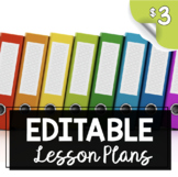 Editable Lesson Plans - Curriculum Map - Standards Charts