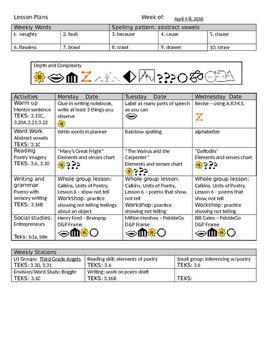 Editable Lesson Plans Pages