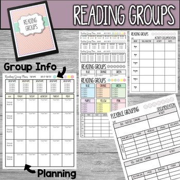 Editable Lesson Plans and Reading Groups Organization Polka Dot Theme