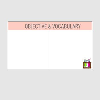 Test Tube Theme Editable Daily Lesson Slides